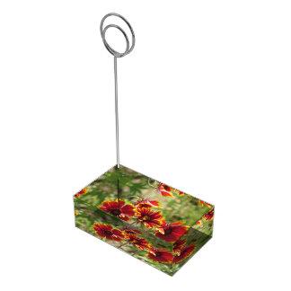 Wildflowers combinados indios soporte de tarjeta de mesa
