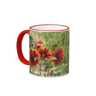 Wildflowers combinados indios taza de dos colores
