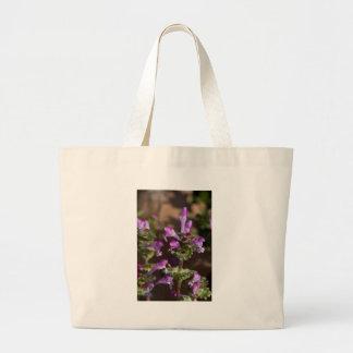 Wildflowers de Alabama Henbit Deadnettle Bolsa Tela Grande