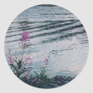 Wildflowers de Alaska Pegatina Redonda