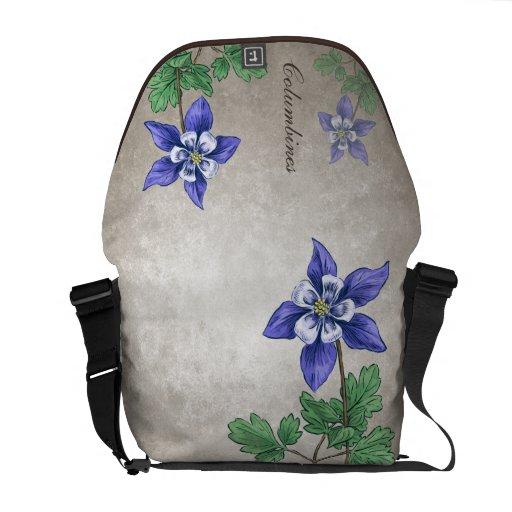 Wildflowers de Columbines adaptables Bolsas De Mensajería