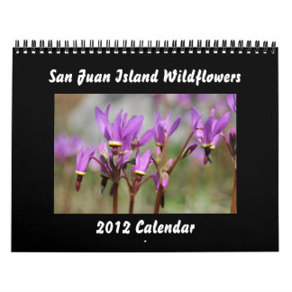 Wildflowers de la isla de San Juan Calendarios De Pared
