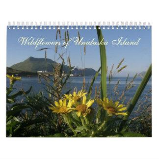 Wildflowers de la isla de Unalaska Calendario