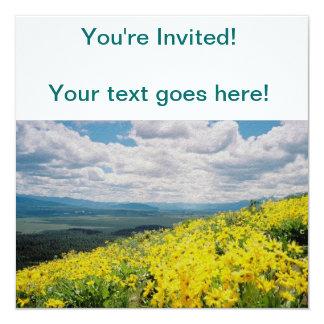 """Wildflowers de la montaña de la señal invitación 5.25"""" x 5.25"""""""
