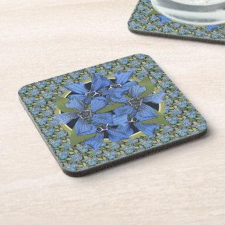 Wildflowers de la nomeolvides del azul de cielo posavasos de bebida