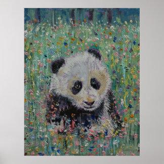Wildflowers de la panda impresiones