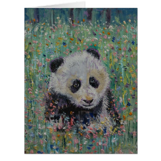 Wildflowers de la panda tarjeta de felicitación grande
