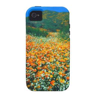 Wildflowers de las amapolas y de las palomitas de vibe iPhone 4 carcasas