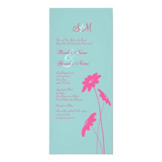 """Wildflowers de las rosas fuertes y del azul que invitación 4"""" x 9.25"""""""