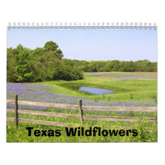Wildflowers de Tejas Calendario De Pared