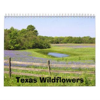 Wildflowers de Tejas Calendarios De Pared