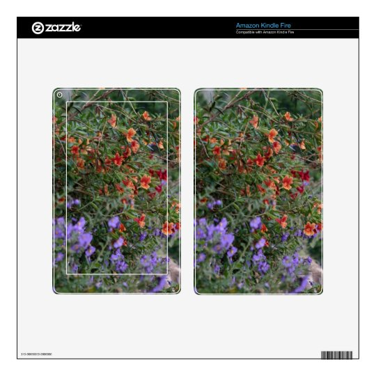 Wildflowers Decal For Kindle Fire