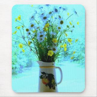 Wildflowers del azul del país alfombrilla de ratón