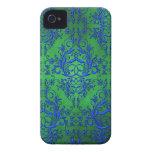 Wildflowers del damasco, Electra en verde y azul iPhone 4 Cobertura