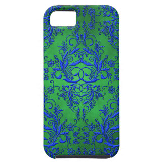 Wildflowers del damasco, Electra en verde y azul Funda Para iPhone SE/5/5s