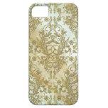 Wildflowers del damasco, lucero del alba en oro iPhone 5 cárcasa