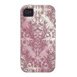 Wildflowers del damasco, lucero del alba en rosa Case-Mate iPhone 4 funda