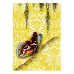 Wildflowers del damasco, MARIPOSA en amarillo Tarjeta De Negocio