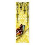 Wildflowers del damasco, MARIPOSA en amarillo Tarjeta De Visita