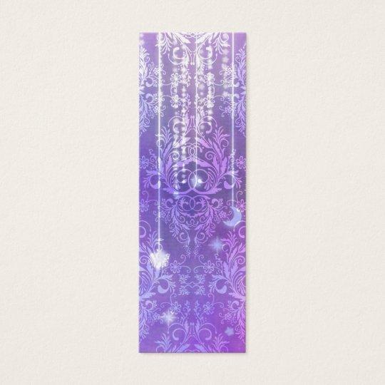 Wildflowers del damasco, SEÑORA VALESKA en púrpura Tarjetas De Visita Mini