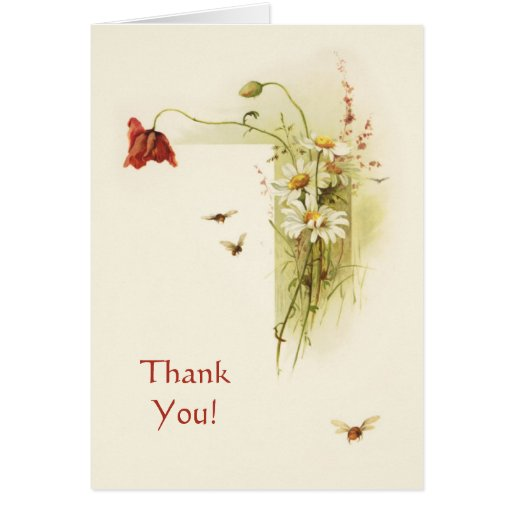 Wildflowers del vintage felicitacion