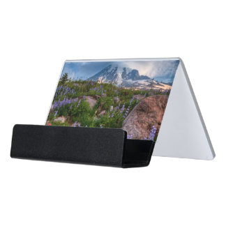 Wildflowers Desk Business Card Holder