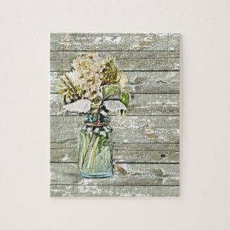 wildflowers elegantes del tarro de albañil del paí rompecabeza