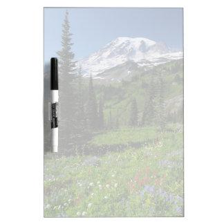Wildflowers en el Monte Rainier Pizarras Blancas De Calidad