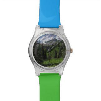 Wildflowers en el Monte Rainier Reloj De Mano