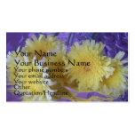 Wildflowers en hoja plantilla de tarjeta personal