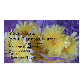 Wildflowers en hoja tarjetas de visita