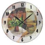 Wildflowers en la tabla de cocina relojes de pared
