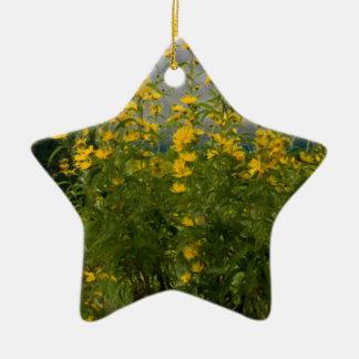 Wildflowers en un día nublado ornamento para arbol de navidad