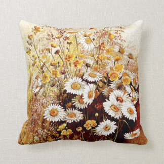 Wildflowers Floral Botanical Flowers Throw Pillow