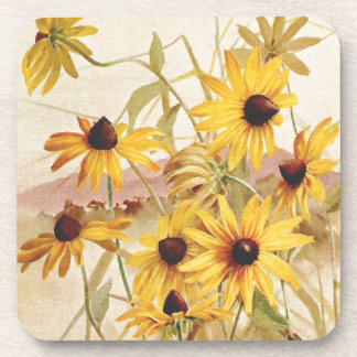 Wildflowers Floral Flowers Botanical Cork Coaster