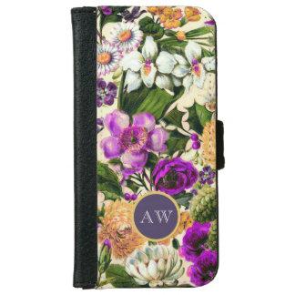 Wildflowers florales del monograma del vintage carcasa de iPhone 6