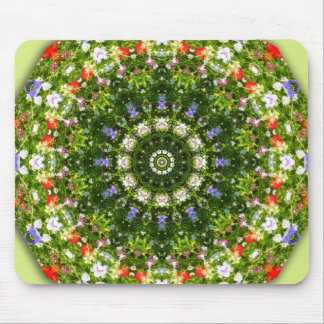 Wildflowers, Flower-Mandala Mouse Pad