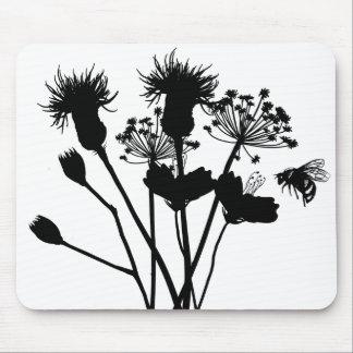 Wildflowers Flower Silhouette Mousepad