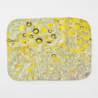 Wildflowers Flowers Floral Meadow Photography Baby Burp Cloth