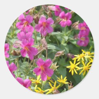 Wildflowers- Glacier National Park Classic Round Sticker