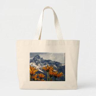 Wildflowers Grand Tetons Large Tote Bag