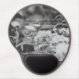 Wildflowers & Honey Bee Gel Mousepad with Quote