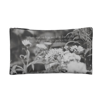 Wildflowers & Honey Bee Makeup Bag with Quote