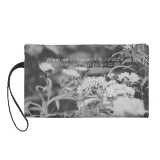 Wildflowers & Honey Bee Wristlet with Quote