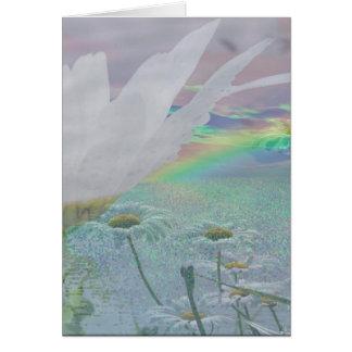 Wildflowers in 3d greeting card