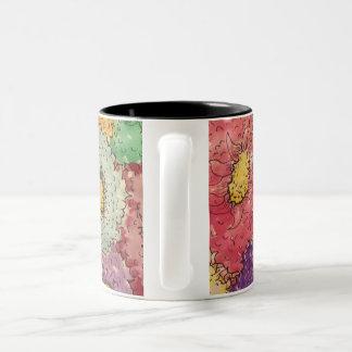 Wildflowers in Mauve Two-Tone Coffee Mug