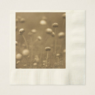 Wildflowers in Sepia Paper Napkin