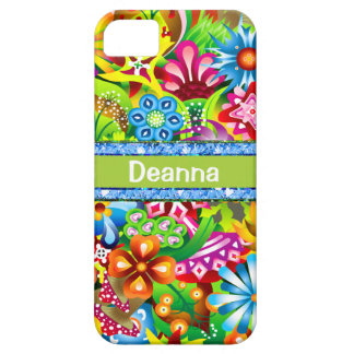 Wildflowers In Vivid Colors Personalized iPhone 5 Case