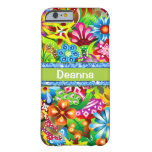 Wildflowers In Vivid Colors Personalized iPhone 6 Case