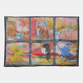 Wildflowers kitchen towel